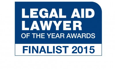 Legal Aid Lawyer of the Year awards - Finalist 2015