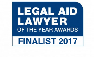 Legal Aid Lawyer of the Year awards - Finalist 2017